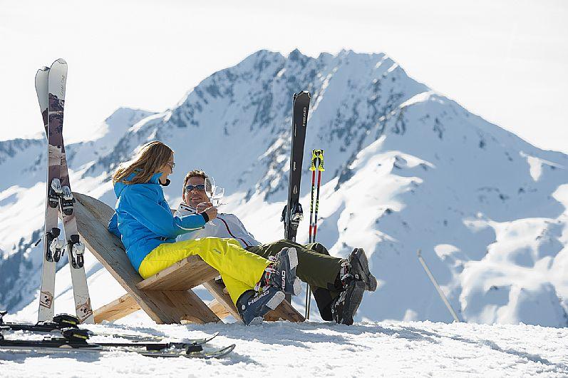 cuplu la ski