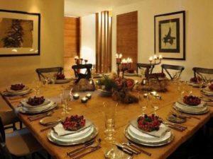 Chalet Chesetta Christmas table