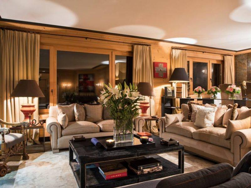 Chalet Aflabim, Gstaad, main Livingroom