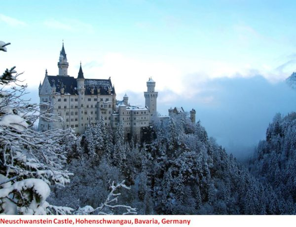 Neuschwanstein Castle in Hohenschwangau, Bavarian Alps