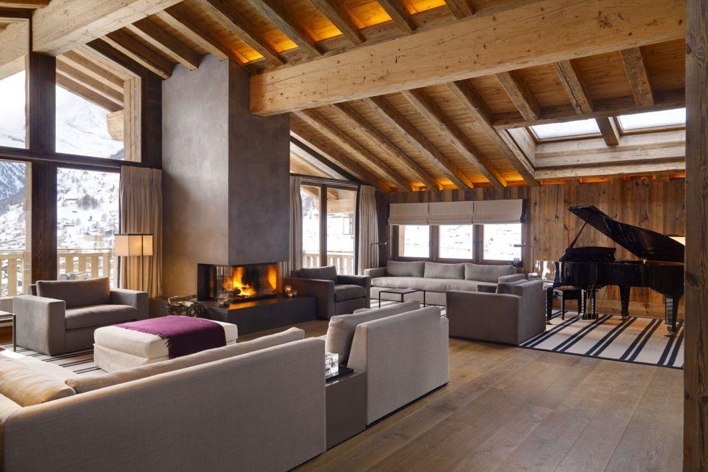 Chalet Les Anges, Zermatt,living room
