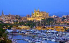 Palma, Le Seu Cathedral and harbour, Mallorca