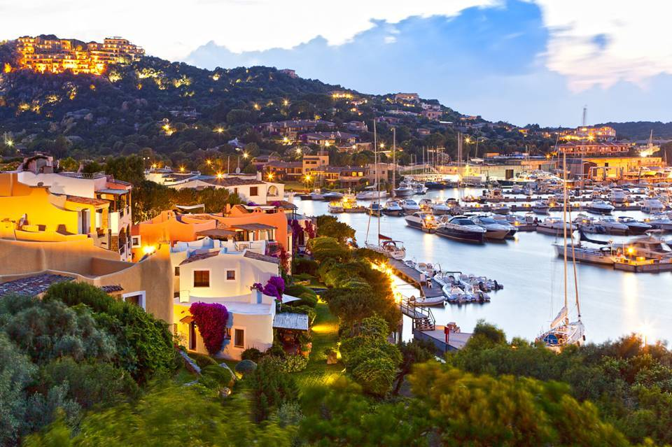 Yachts docked in the harbour of Porto Cervo