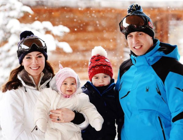 Prince William and his famil - the Duchess of Cambridge, Prince George and Princess Charlotte - being spotted in Courchevel 1850 whilst their spring ski holidays