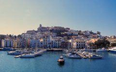 Balearic Islands, Ibiza, Dalt Vila, Old Town, harbour