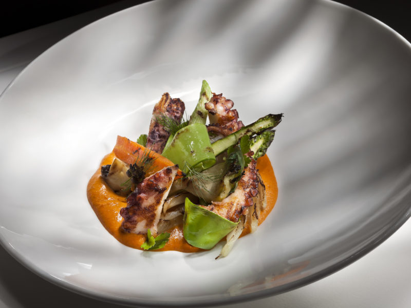 Grilled octopus served at Arrels Restaurant, one of Mallorca's best new restaurants.