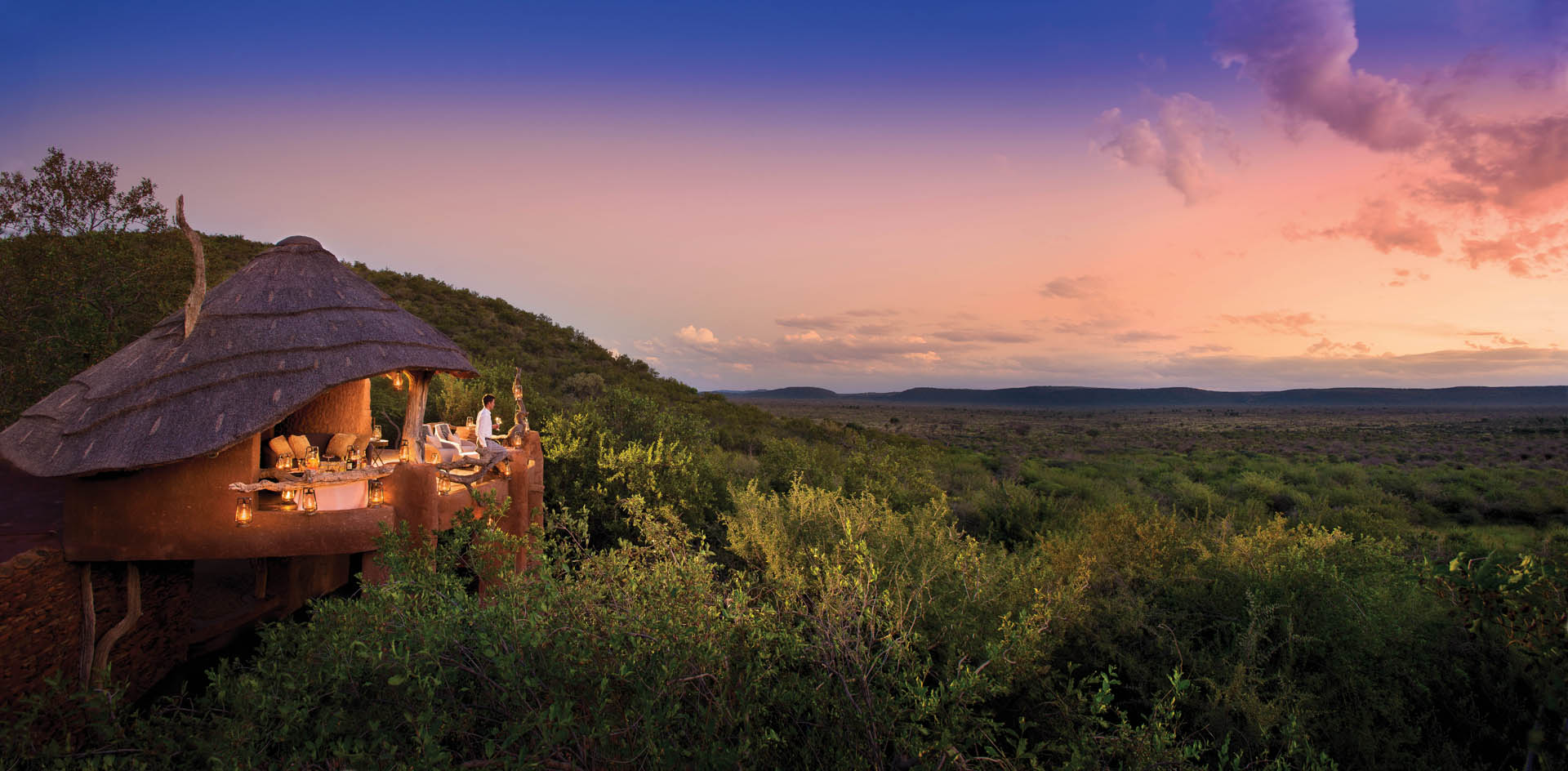 Sotuh Africa, Madikwe Game Reserve, panoramic views