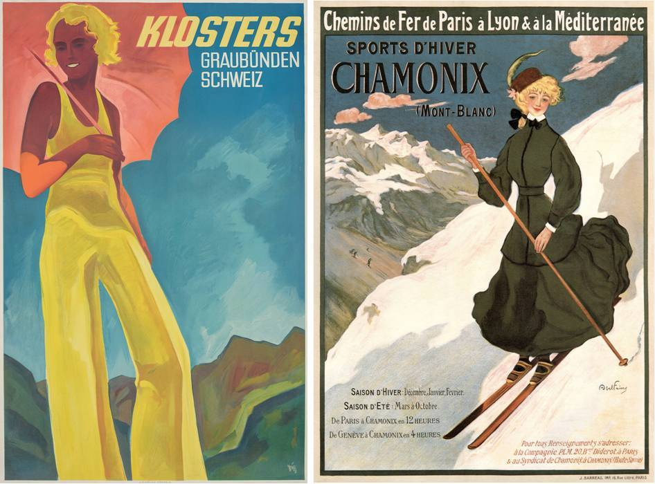 "Ski Poster Sale at Christie's, London - ""Klosters"" and ""Sports D'Hiver Chamonix"""