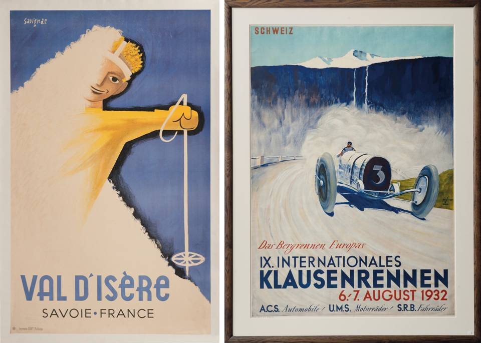 "Ski Poster Sale at Christie's, London - ""Val d'Isère"" and ""IX. Internationales Klausenrennen"""
