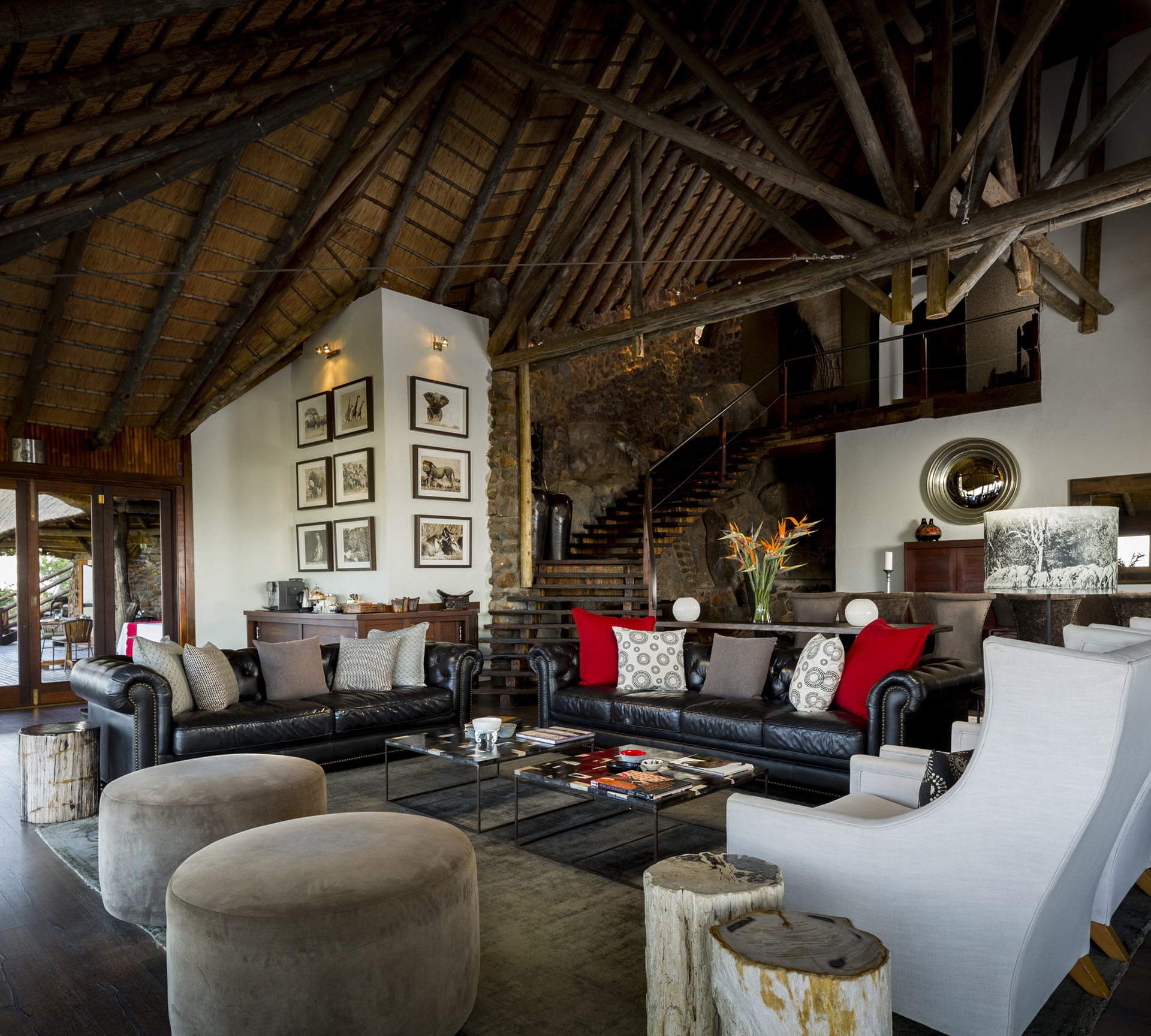 Ulusaba Private Game Reserve, South Africa - Lounge at Rock Lodge