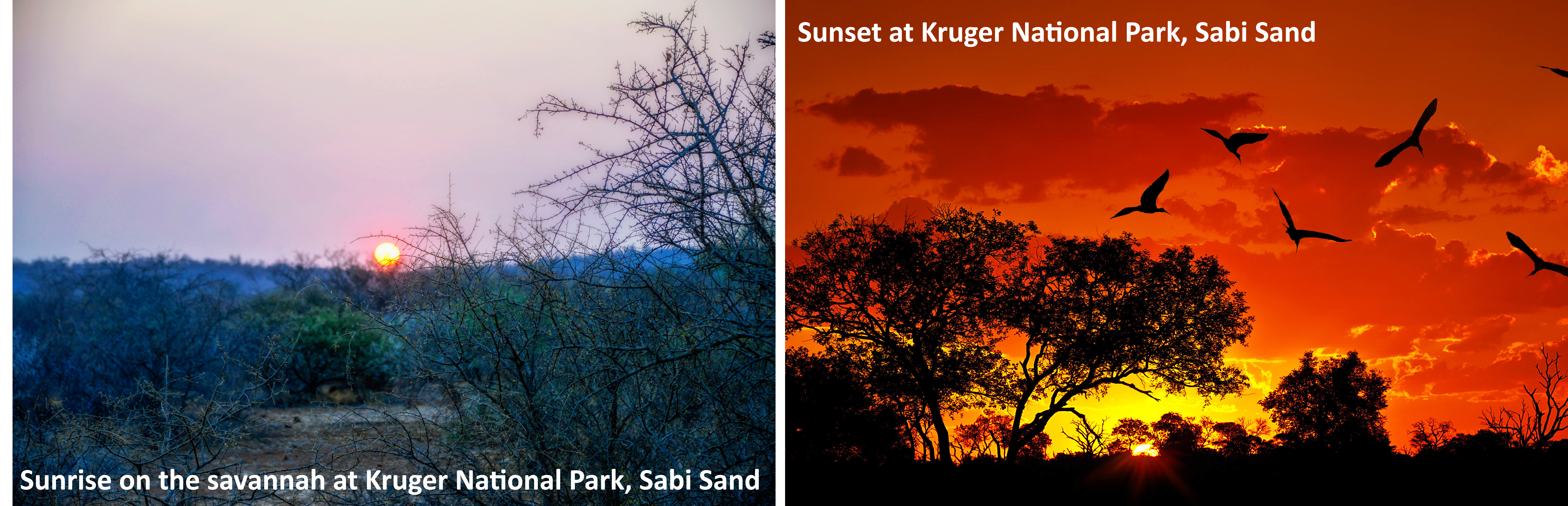 South Africa, Sunrise and sunset