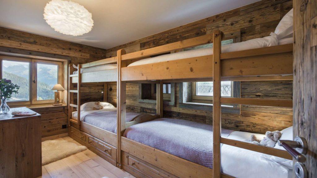 Cozy children's bunk room