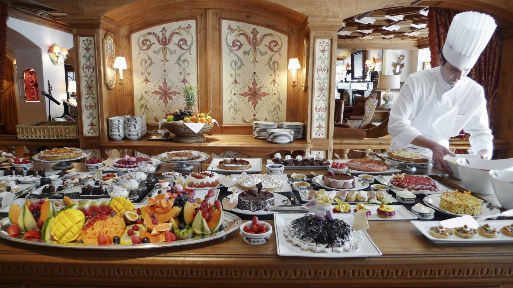 Buffet at Hotel Les Airelles