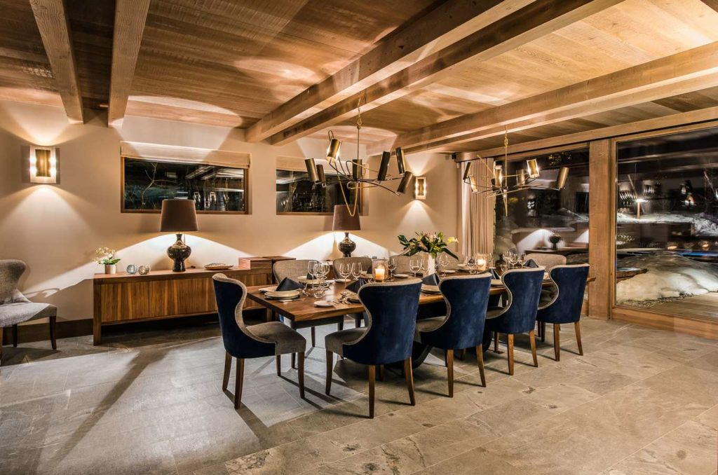 spacious and impressive dining area