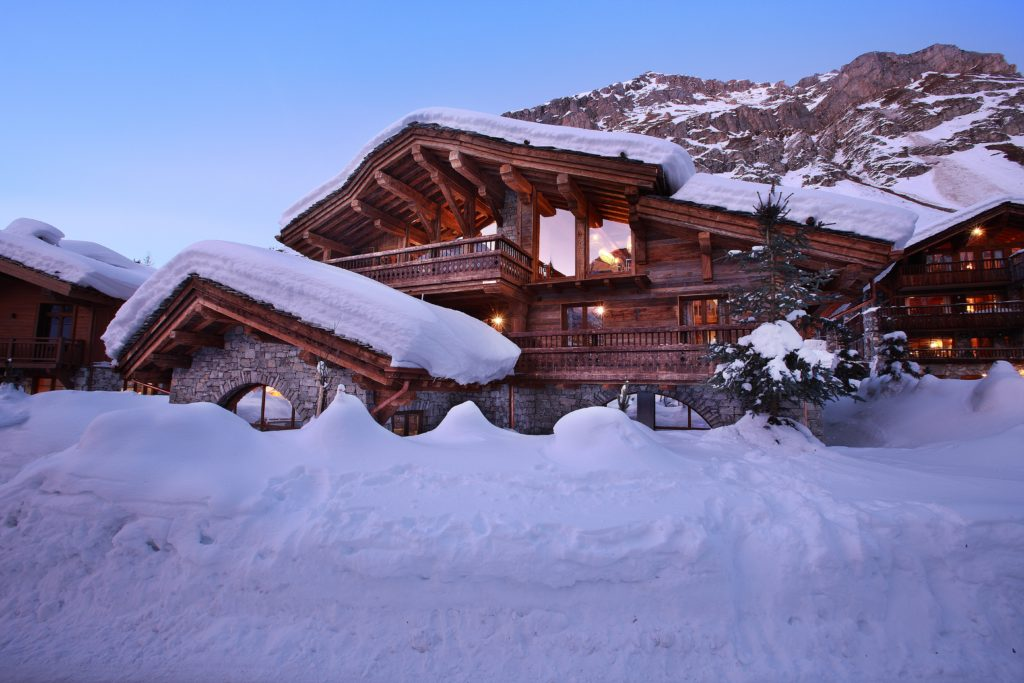 Exterior view of luxury ski chalet Marco Polo, Val d'Isere, French Alps