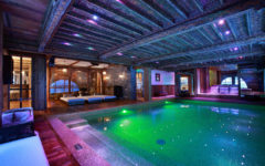 The pool of luxury ski chalet Marco Polo, Val d'Isere, French Alps