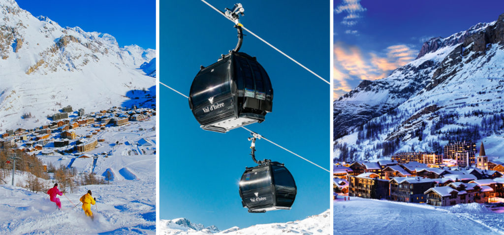 Winter sport destination Val d'Isere, Savoie, French Alps