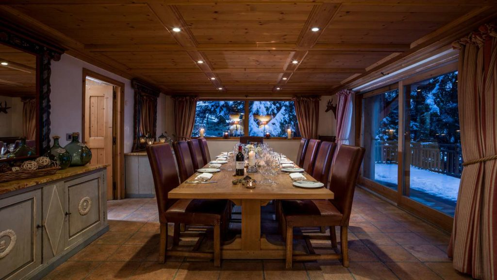 Dining at Chalet Bartavelles