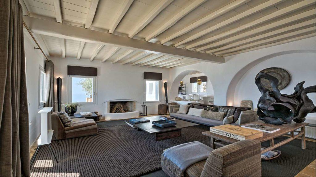 Mykonos, Villa Soraya, living area