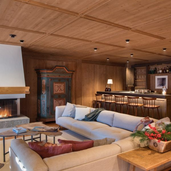 Oberlech, Austrian Alps - Chalet Mimi, Livingroom and Bar