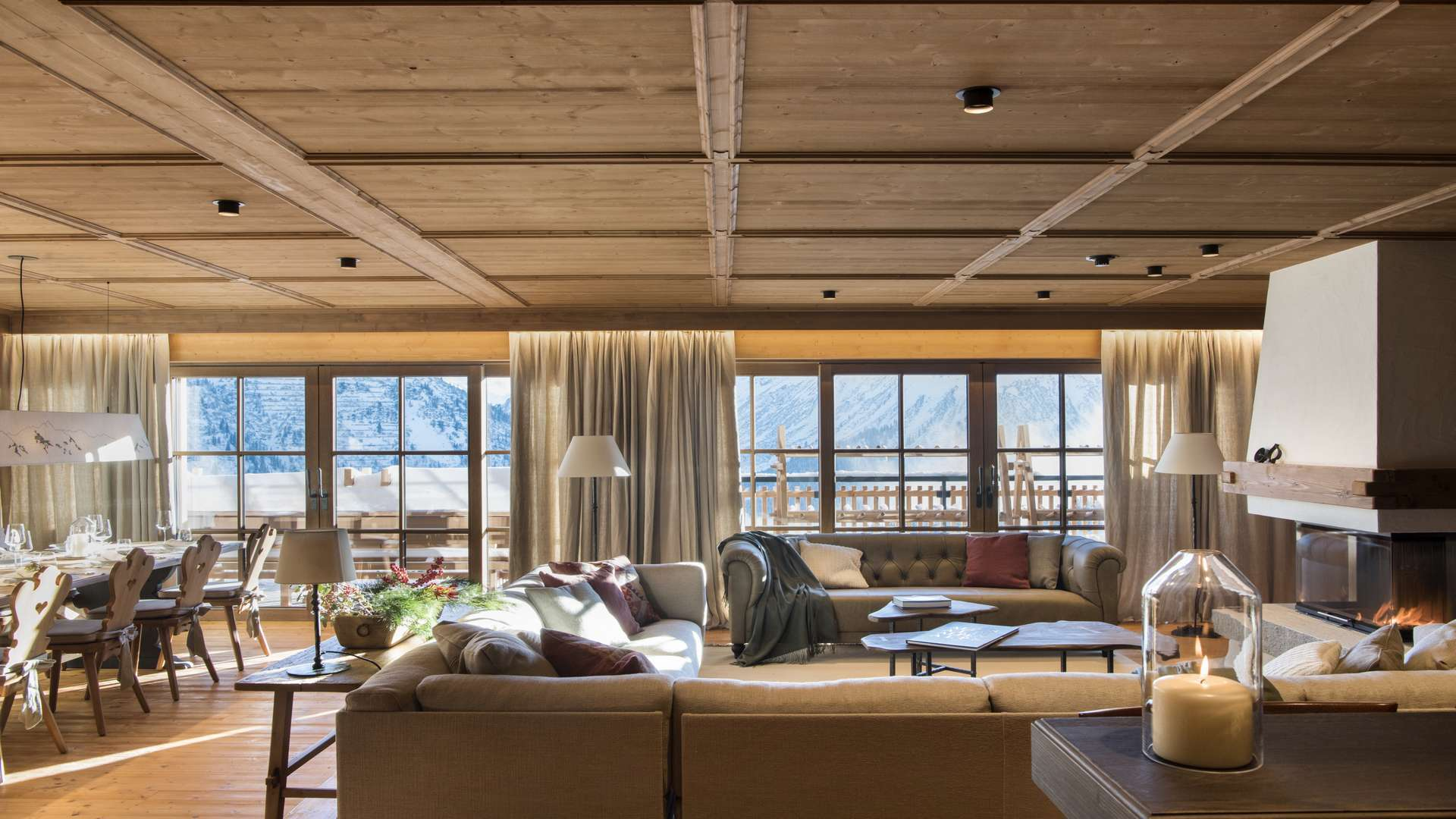 living area at Chalet Mimi in Oberlech