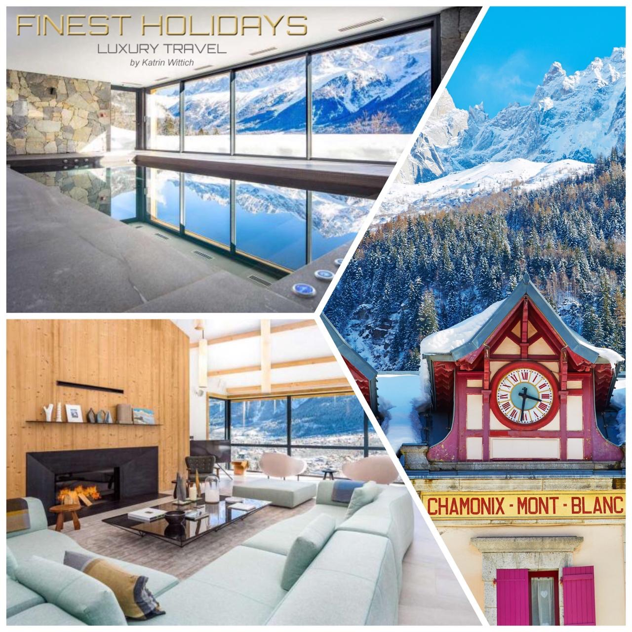 Le Mont Blanc, the largest chalet in the charming village of Chamonix