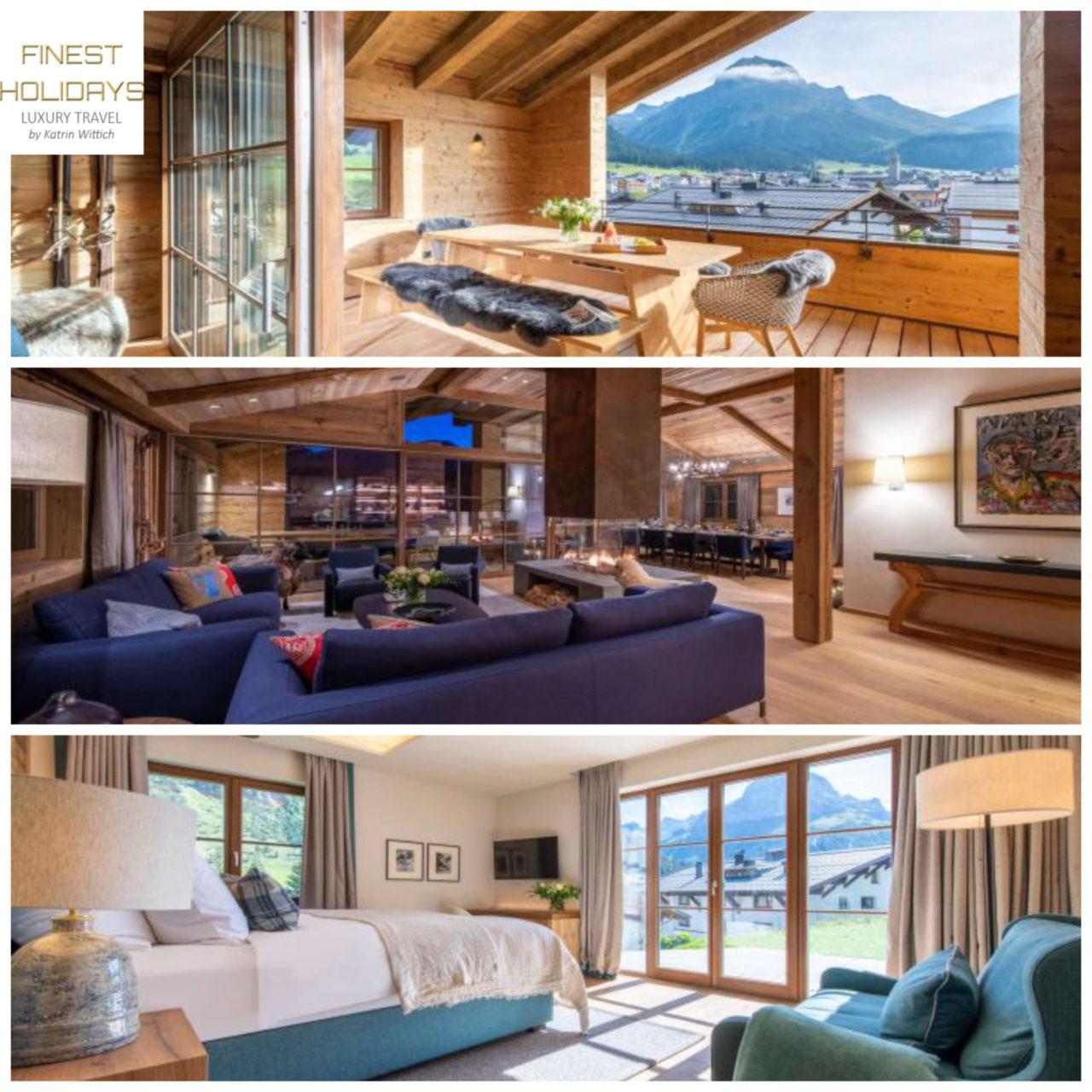 www.finest-holidays.com Austrian Alps, Lech, luxury ski chalet Chalech 1, Austria