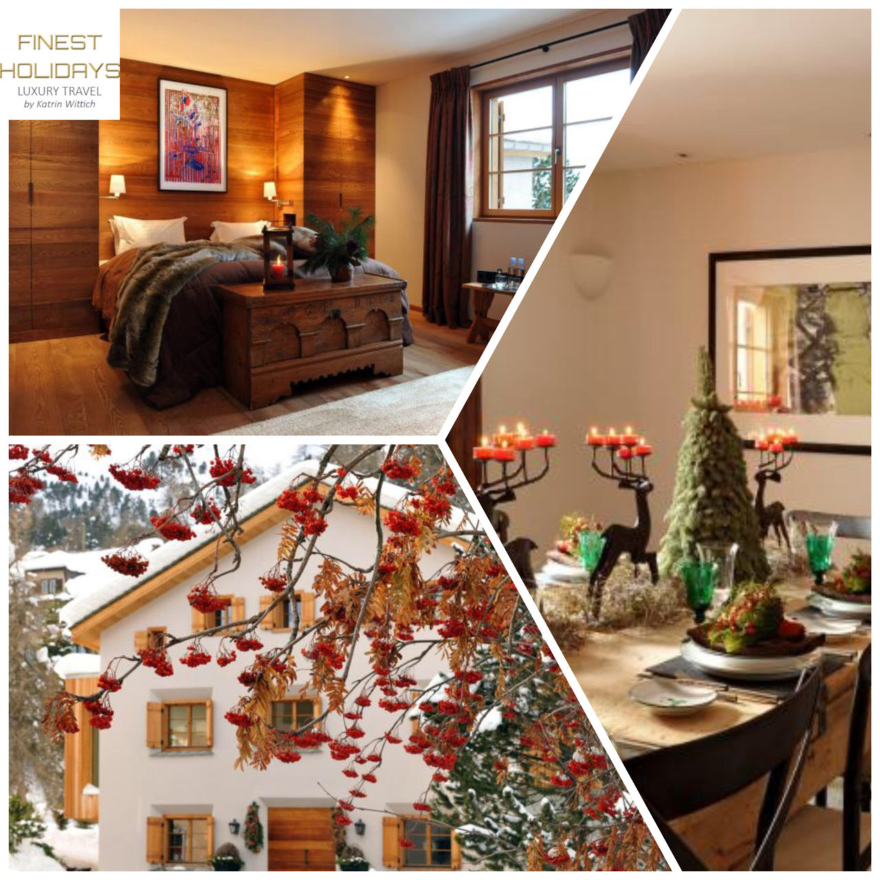 www.finest-holidays.com Swiss Alps, St. Moritz, luxury chalet Chesetta, Switzerland