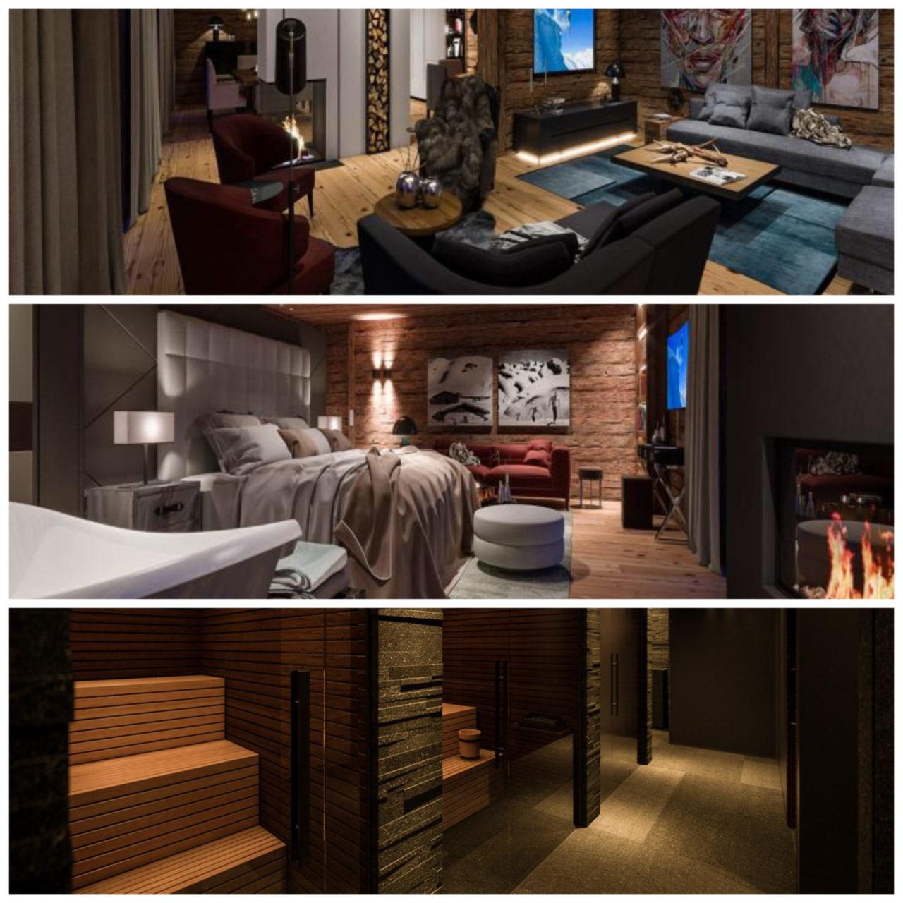 www.finest-holidays.com SEVERIN*S - The Alpine Retreat, suite, bedroom, living, sauna