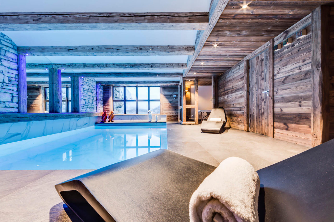 Chalet Daria in Val d'Isere, swimming pool
