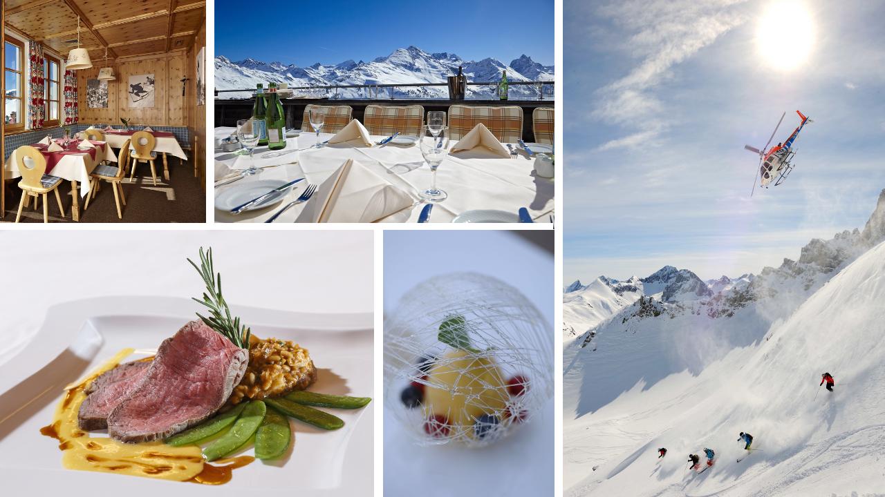 www.finest-holidays.com Restaurant Verwallstube and Heli-skiing, St Anton