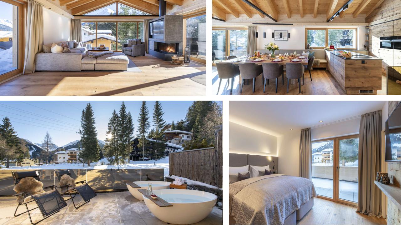 www.finest-holidays.com Luxury ski chalet Villekulla, St Anton, Austrian Alps