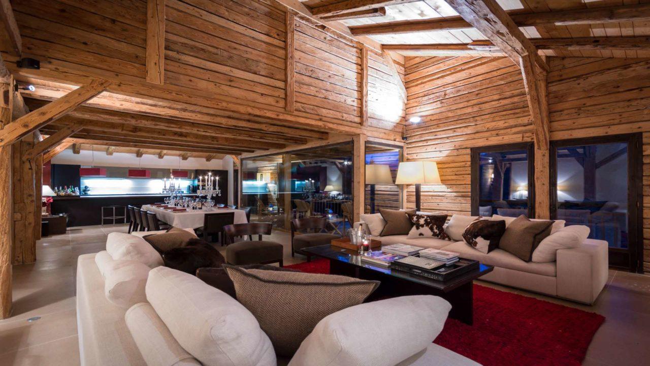 Ski chalet Ferme de Moudon_Living_Les Gets