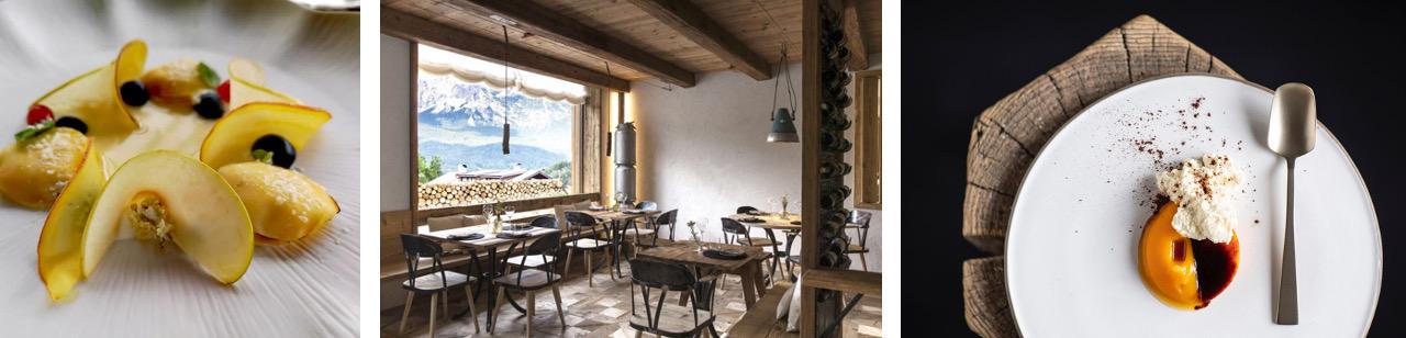 Michelin star awarded restaurant SanBrite in Cortina d'Ampezzo