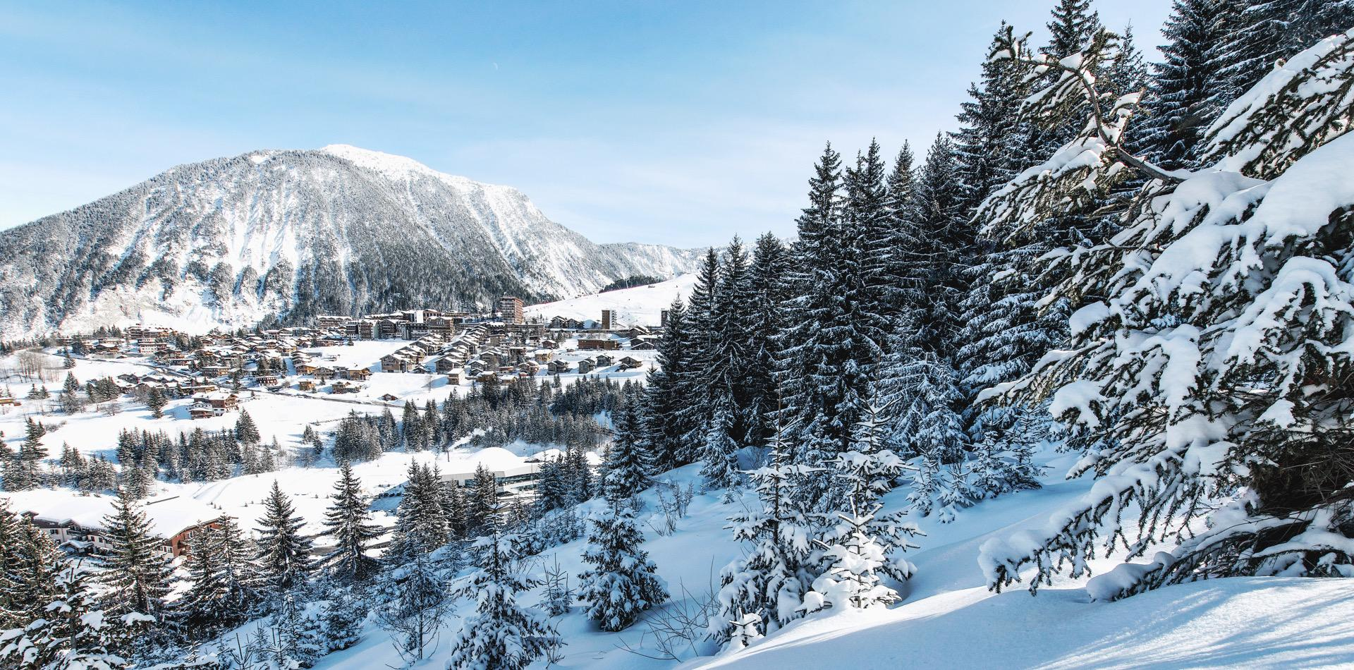 Courchevel Ski Resort In Alps Mountains, France Stock